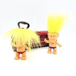 trolls plush 2019 - Precident Donald Trump Bottle Opener Novelty Cartoon Beer Bottle Openers PVC Figure Troll Doll Plush Toys 2020 Candidate