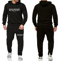 Wholesale men s piece tracksuit for sale – custom Balmain Tracksuit For Men Pieces Set New Fashion Jacket Sportswear Mens Tracksuit Hoodie Spring Autumn Clothes Hoodies Pants