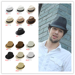 9ad9cb30363ea Spring Summer Unisex Panama Hats Sun Hats For Man Women Jazz Hat Fedora Hat  Straw Hat Stingy Brim Hats Free Ship