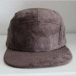 flat brim panel hats 2019 - high quality black red navy gray 5 panel suede cap women men flat brim suede dad hat adjustable baseball cap spring wint