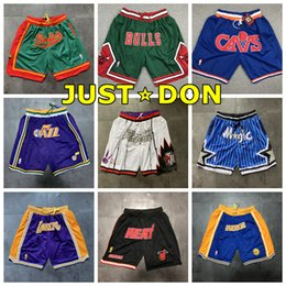 $enCountryForm.capitalKeyWord Canada - 2020 JUST DON Mans Pocket Basketball Shorts Dense Embroidery Lining Mesh Sports Breathable Pocket Sweatpants Embroidery Team Name & Year Id