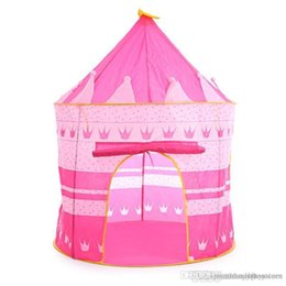 pink tent kids NZ - 3 Colors Kids Toy Tents Children Folding Play House Portable Outdoor Indoor Toy Tent Princess Prince Castle Cubby Playhut Gifts