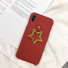 premium mobile phones NZ - For iPhone 7 Phone Case Premium Leather for iPhone X Xs Max XR 8 7 6 Plus Mobile Shell Fit Protective Cover Star Kickstand Holder Back Cover
