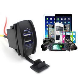 $enCountryForm.capitalKeyWord Australia - 1pcs Dual USB 12V 24V 3.1A Charger Car Auto Boat Accessory Dual USB Charger Power Adapter Outlet Cargador de coche