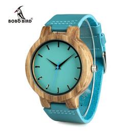 $enCountryForm.capitalKeyWord Australia - BOBO BIRD Lovers' Watches Women Wooden Men Watch Turquoise Blue Timepieces in Gift Box Relogio Masculino Drop Shipp W-C28 S914