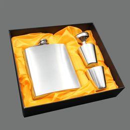 $enCountryForm.capitalKeyWord Australia - 7oz Stainless Steel Hip Flask Set Portable Luxury Alcohol Hip Flasks Whiskey Wine Bottles Drinkware with Funnel Box Groom Gift