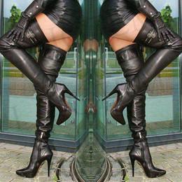 $enCountryForm.capitalKeyWord NZ - LAIGZEM Super SEXY Women Over-the-Knee Boots Buckles Stiletto Heels Thigh High Boots Botas Feminina Botines Mujer Big Size 4-14