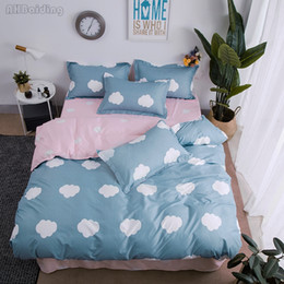 $enCountryForm.capitalKeyWord Australia - Blue White Clouds Bedding Set Adult Kids Bed Linen Wedding Bed Set Duvet Cover Flat Sheet Pillowcase Twin Full Queen King Size