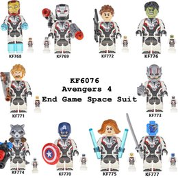 Build Suit Australia - Building Blocks Avengers 4 End Game Space Suit With Micro Figure For Free Tony Stark War Machine Thor For Children Toys KF6076