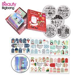 $enCountryForm.capitalKeyWord Australia - wholesale 11Pcs set Xmas Gift Christmas Nail Art Stamping Plates Manicure Stickers Nail Art Stickers Decoration Tool Set
