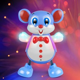 remote control dance UK - Electric Smart Dancing Cartoon Mouse Toy with Music and Light Accompany the Child's Happy Growth