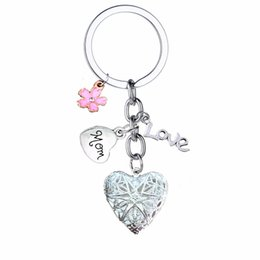 $enCountryForm.capitalKeyWord Australia - 12PC Lot Family Mom Keyring Flower Locket Love Heart Charms Keychain For Mommy Mama Mothers Key Chains Rings Mother's Day Gifts