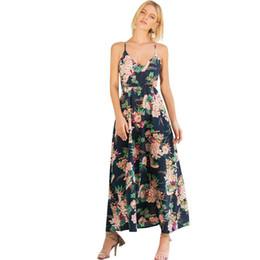 40272c52dec Boho Spaghetti Strap Maxi Dress UK - Fashion Women Floral Print Boho Maxi Dress  Spaghetti Strap
