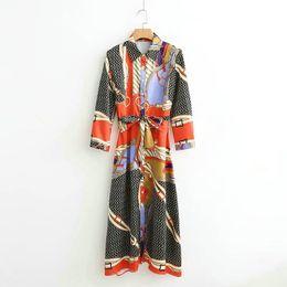 $enCountryForm.capitalKeyWord Australia - Long Boho Dress Autumn 2019 Print Ladies Dress Shirt Women 60's Tunics Party Dress Designer Vintage Brand Vestidos Xd455