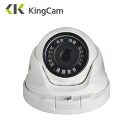 Network Metals Australia - KingCam 2.8mm Lens Wide Angle Metal POE IP Camera 1080P 960P 720P Security Outdoor ONVIF Network CCTV Surveillance Dome ipcam