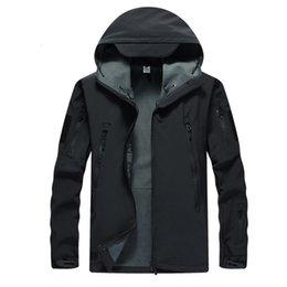 Soft Skin tactical jacket online shopping - Men Camouflage Army Lurker Shark Skin Soft Shell Tactical Jacket Men Waterproof Windproof Warm Winter Windbreaker Coat