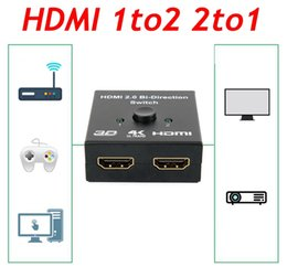 Video Audio Switch Australia - HDMI 1to2 2to1 Bi-direction Switch HD Audio Video 1x2 2*1 Converter Bi-Directional HDMI Switcher for gaming consoles,XBox 360, Xbox One, PS3