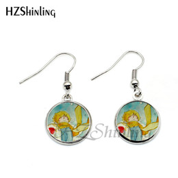 $enCountryForm.capitalKeyWord NZ - 2019 New Arrival The Little Prince Fishhook Earring Steampunk Glass Cabochon Fairy Tale Prince Pendant Art Earrings NHE-0106
