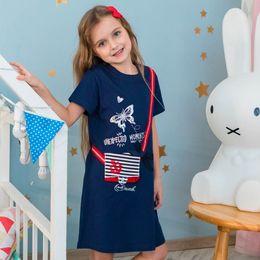 $enCountryForm.capitalKeyWord Australia - Girls Cotton 2019 New Summer Dress with Animals Appliques Kids Unicorn Party Princess Dress Tunic Baby Clothing for Kids Dresses