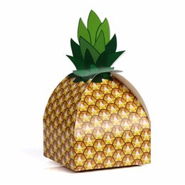 Wholesale Fruit Boxes UK - 10pcs New Fruit Series Creative DIY Tray Personality Pineapple Gift Candy Box Birthday Party Children's Day Candy Box Supplies