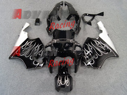 Kawasaki Zx7r Abs Fairing Kits Australia - High quality New ABS motorcycle fairings fit for kawasaki Ninja ZX7R 1996-2003 ZX7R 96 97 98 99 00 01 02 03 fairing kits cool white flame