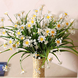 plastic greenery NZ - Daisy Artificial Flowers Outdoor Uv Resistant Fake Plant Windowbox Greenery Plastic Bushes Indoor Wedding Balcony Decoration