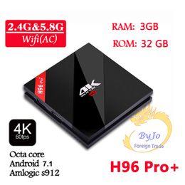 $enCountryForm.capitalKeyWord NZ - H96 Pro+ 2G 3G DDR3 16G 32G 2.4G 5GHz Wifi 4K box Amlogic S912 Top set box android 7.1 tv box H96 plus