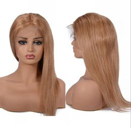 $enCountryForm.capitalKeyWord Australia - Straight Lace Front Wigs Pre Plucked Brazilian Full Lace Human Hair Wig for Women 27# Lace Wigs 6-26 inches