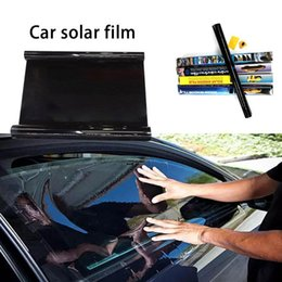 windows tinting tools NZ - Car Window Sunshade 19 *118 Inch Universal Car Insulation Privacy Window Tint Solar Film Explosion -Proof Glass Film With Tool