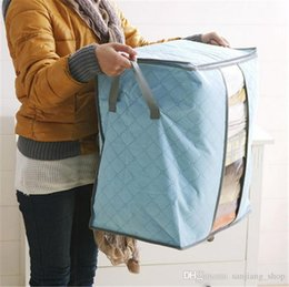 $enCountryForm.capitalKeyWord UK - Bamboo Charcoal Storage Bags Big Non Woven Portable Foldable Clothing Blanket Pillow Underbed Bedding Organizer Box hot 2017