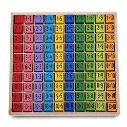 China Math Learning Montessori Ulysse Multiplication Board Toys Table Educational Toy 10 X 10 Natural Wood Material Figure Blocks VB supplier block toys vehicles suppliers
