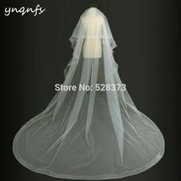 Marriage veils online shopping - VV21 With Comb Two Layer Boned Edge Soft Tulle Cathedral Veil Velo de Noiva Voile Marriage Bridal Veil Wedding Veil