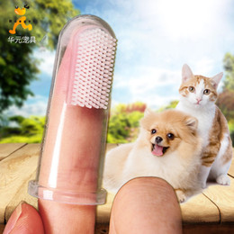 Safer Products Australia - 5*2.5cm New Soft Silicone Safe Pets Toothbrush Dog cat Finger Toothbrush Gum Brush For Clear Massage HZHY07