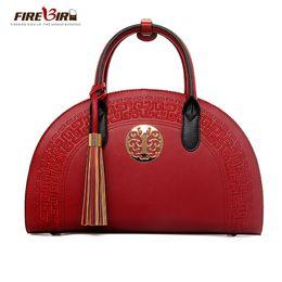 $enCountryForm.capitalKeyWord Australia - Chinese style vintage women handbag quality PU Ladies handbags Shoulder Messenger Bag Brand designer tassel Crossbody bags