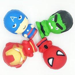 Spiderman Squishy Homem De Ferro O Hulk Vingadores Marvel Heros Dos Desenhos Animados Capitão América Charme Aperto Lento Rising Squishies Perfume Encantos Brinquedo venda por atacado