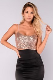 $enCountryForm.capitalKeyWord Australia - Women's Vest fashion High quality sexy low-breast suspension belt in European and American high-quality sequined vest nightclub