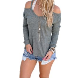 Blouses Cold Australia - New Fashion Women Casual Spaghetti Straps Solid Cold Shoulder Regular Regular fit, Pullover, Sexy None Blouse