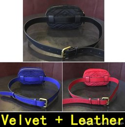 leather tennis bags Canada - Waist Bag Velvet + Leather Autumn Winter Style Luxury Handbags High Quality Designer Original Genuine Leather Shoulder Bags With Box 1808