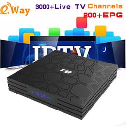 Arabic Tv Boxes Australia - Arabic IPTV Box World IPTV Subscription 1 Year EVDTV for T9 Android8.1 Dutch France Spain US iptv Smart set top Tv box