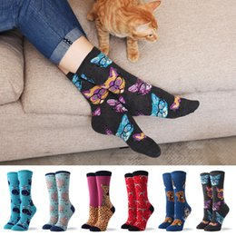 leopard sock NZ - Cartoon Creativity Leopard Beagle Cat Animal Harajuku Crazy Cotton Funny Women Casual Socks Men Novelty Happy Short Socks