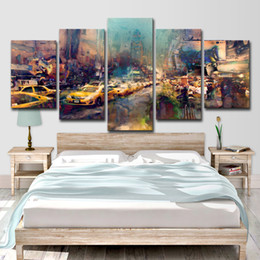 $enCountryForm.capitalKeyWord Australia - 5 Piece HD Printed New York City Painting on Canvas Room Decoration Art Print Poster Picture Canvas Free Shipping