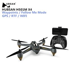 Gps Control Rc NZ - Hubsan H501M X4 RC Drone WIFI FPV Brushless Drone With GPS Waypoints Follow Me Mode RC Quadcopter RTF With Remote Control