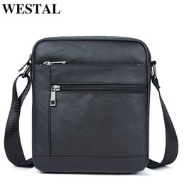 small handbags for man Canada - Westal Men's Shoulder Bag Men's Genuine Leather Bag Male Small Crossbody Bags For Men Messenger Bag Men Leather Handbags 7604 MX190817