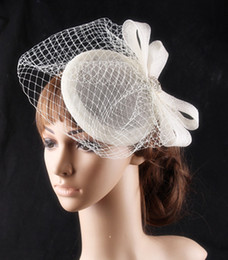 $enCountryForm.capitalKeyWord Australia - Sinamay Bow Disc Fascinator Hat Retro Style Netted & Crystal Beading Fascinators Hair Accessories with Flowers Hair Clips with Pearls