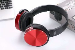 Wireless Usb Music Headphones Canada - 450BT Wireless Headphones Bluetooth Headset Music Player Retractable Headband Surround Stereo Earphone with Mic for PC Smartphone MP3 DHL