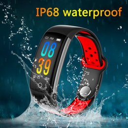 Real Camera Australia - Q6 Color Screen Intelligence Bracelet Real Time Heart Rate Monitor Information Push Incoming Telegram Remind Waterproof