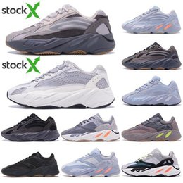 running shoes wave NZ - Wave runner 700 new Teal Carbon hospital Blue magnet Utility Black vanta 3M reflective kanye west running shoes men women designer sneakers