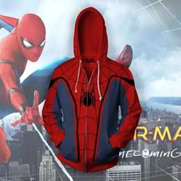 Spider Man Spiderman Mask Australia - Spider-Man Man Zip Up Hoodie Sweatshirts Long Sleeve Zipper Men Masked Spiderman SpiderHoodie Cosplay Sweatshirt Jacket
