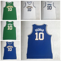 Green S Jersey Australia - NCAA 10 Rodman White Green And Blue Embroidered College Basketball Jersey S-XXL