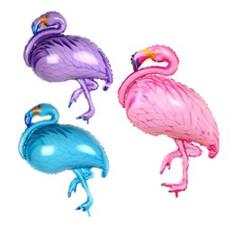 Hearts balloons online shopping - Flamingo Balloon cm cm Aluminium Coating Balloons Helium Ballon Birthday Decoration Wedding Air Balloon Party Supplies